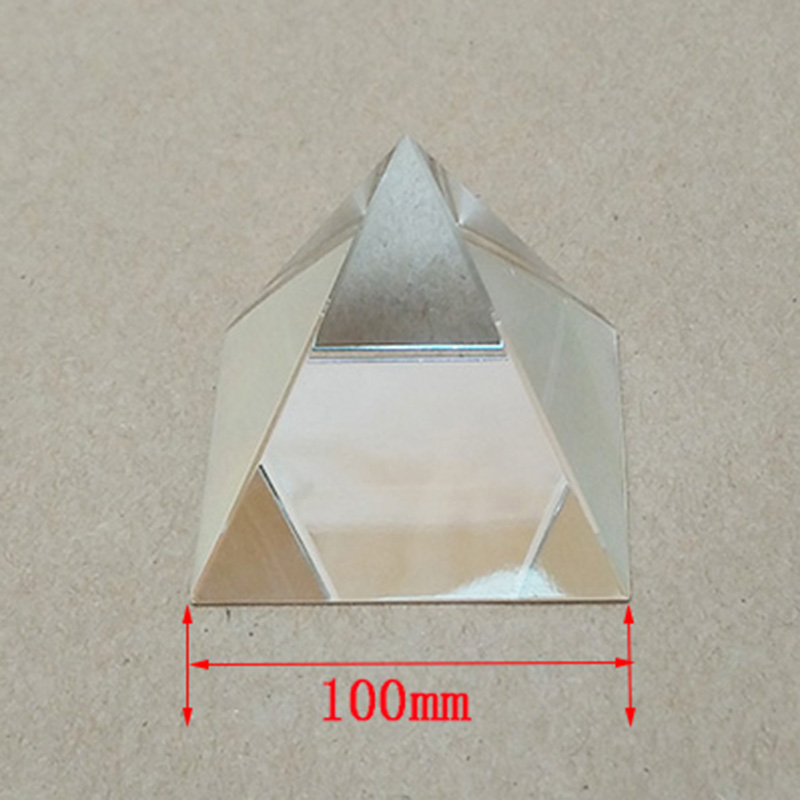 1PC 100mm Optical Glass Four Sides Prism For Optical Experiment Optics Instruments Rainbow Principle Research