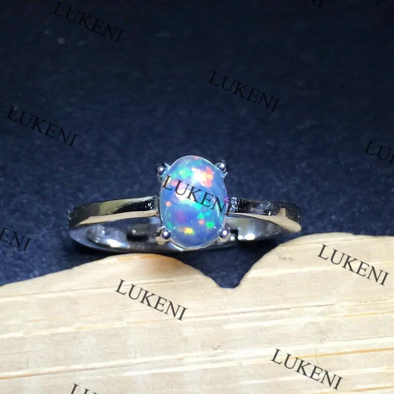 Palm White Opal Ring Moda Opal zərgərlik 5mm * Qadınlar üçün - Gözəl zərgərlik - Fotoqrafiya 1