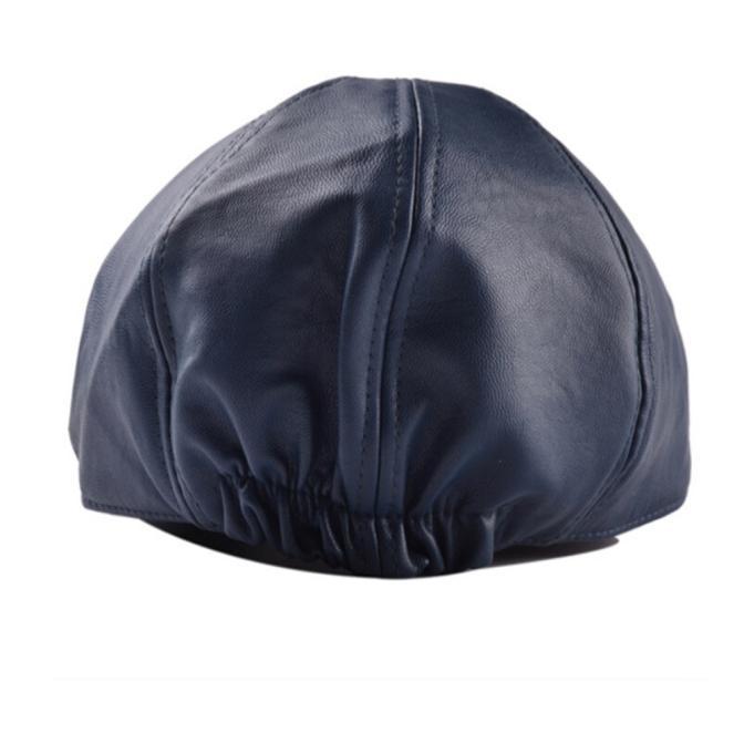 Mens Women Vintage Leather Beret Cap Peaked Hat Newsboy Sunscreen - us809 20e89c3300d7