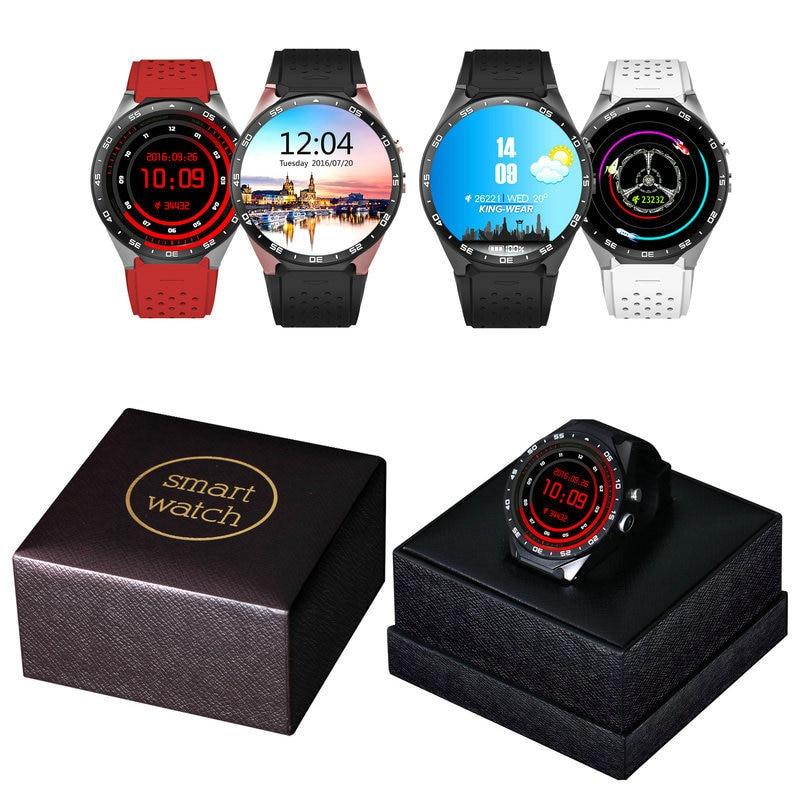 KW88 Smart Watch Phone Android 5.1 Quad Core MTK6580 512 MB di RAM 4 GB ROM Supporto Frequenza Cardiaca 3G Wifi GPS Sensore di Gravità Pedometro - 6