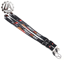 LA racing-New car lanyard for RALLIART lanyards for Mitsubishi keychain for Mitsubishi fans keyring