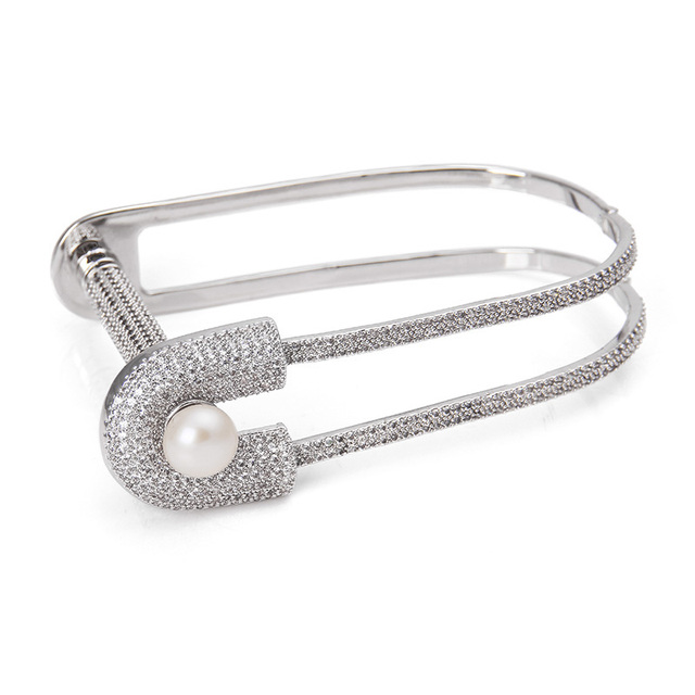 bracelets bangle pin interlocking from bangles bluenile sterling every silver girl ensemble needs in