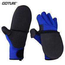 Goture VANGUARD складные перчатки рыболовные перчатки M/L/XL противоскользящие неопреновые и ПУ свободные руки протектор для зимнего рыболовного оборудования