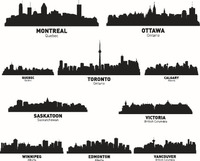 3d City Landscape Wall Stickers Canada City Wall Decal DIY Decorating Vinyl Wall Modern City Wallpaper