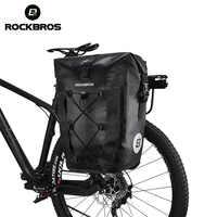 ROCKBROS impermeable bolsa de bicicleta 27L bolsa de viaje de ciclismo cesta de la bicicleta trasera del asiento trasero del maletero bolsas Pannier MTB accesorios de bicicleta