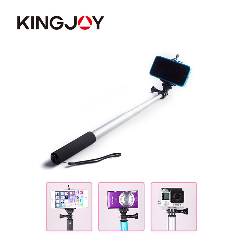 Kingjoy Monopod Bluetooth Selfie Stick For 5S Iphone Android To Mobile Palo Pau De Selfie Selfipalka