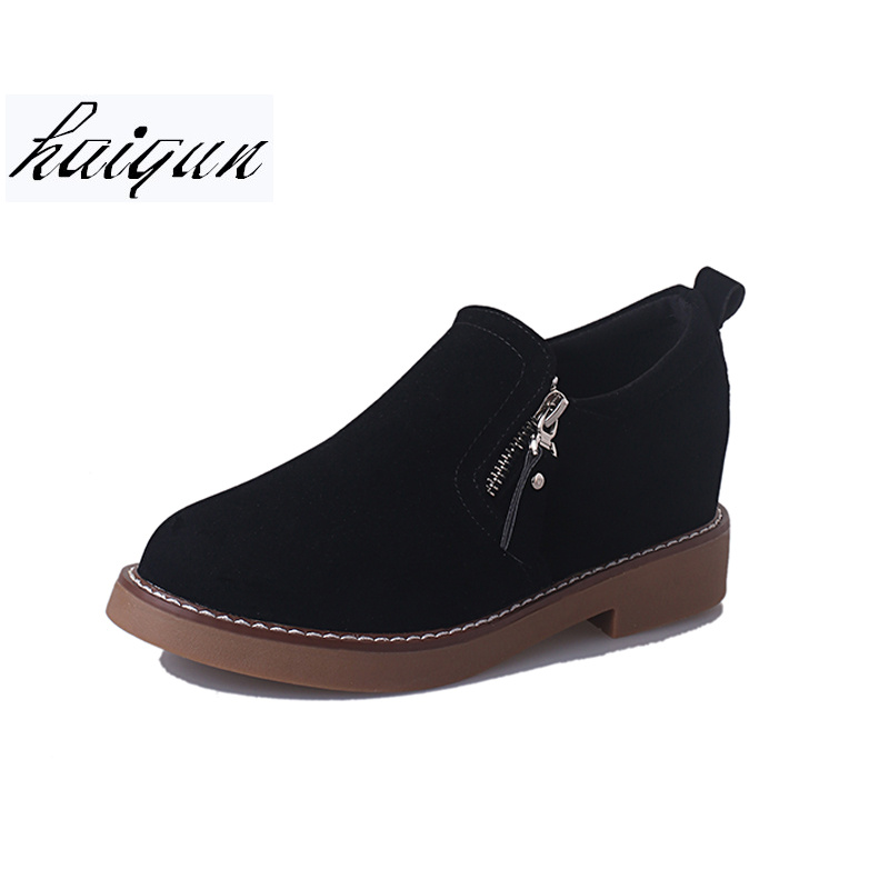 Platform 2019 Faux Suede Women Ankle Boots Slip On Casual Shoes Woman Gladiator Round toe Women Flats Shoes size 35-39 free shipping beautifully design rain boots women ankle boots casual platform shoes woman slip on creepers casual flats shoes