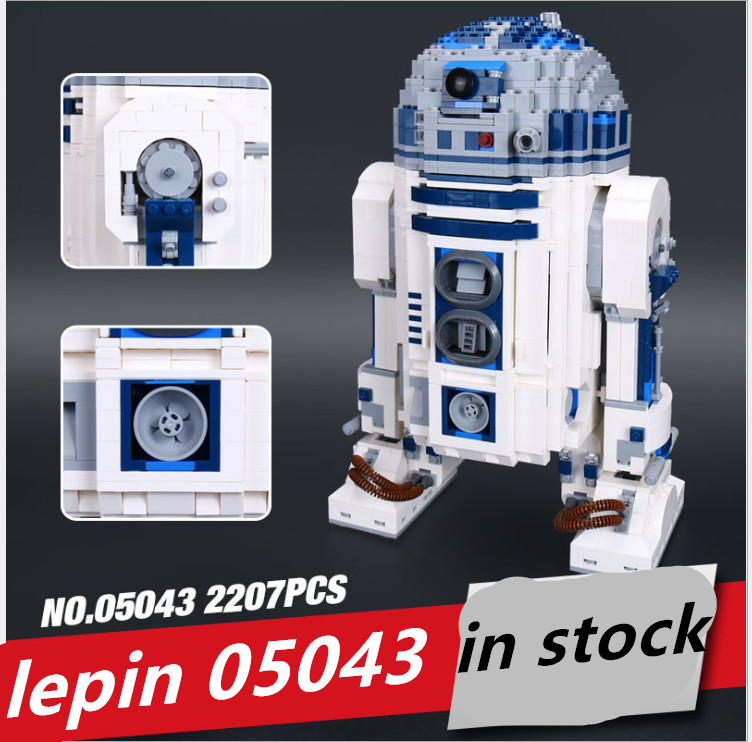 Lepin 05043 lepin r2d2 star wars Robot compatible legoing 10225 legoing  starwars r2 d2 Out of print Building Blocks Bricks toys-in Blocks from Toys  ...