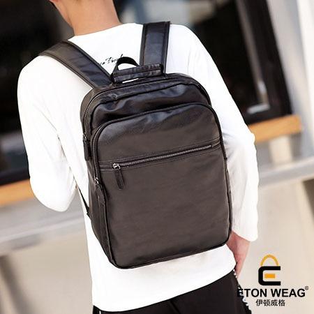 ETONWEAG Brands Cow Leather School Backpacks For Boys Black Zipper Vintage School Bags For Men Fashion Laptop Bag Travel BagPack etonweag brand cow leather backpacks for teenage girls school bags for teenagers black fashion drawstring bag vintage laptop bag
