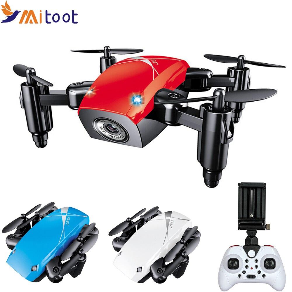 S9HW Mini Drone con cámara HD S9 No Cámara plegable RC Quadcopter altura de retención helicóptero WiFi FPV Micro Pocket Drone avión