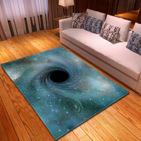 Fashion 3D Cosmic Carpet Black hole Starry sky Area Rugs For Living Room Quality Coffee Table Children Bedroom Rugs Play Mats