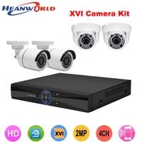 Outdoor & Indoor HD 1080 P camera 4CH Bullet & Dome Surveillance CCTV camera DVR kit HDMI Video Dag/Nachtzicht camera Systeem Kit