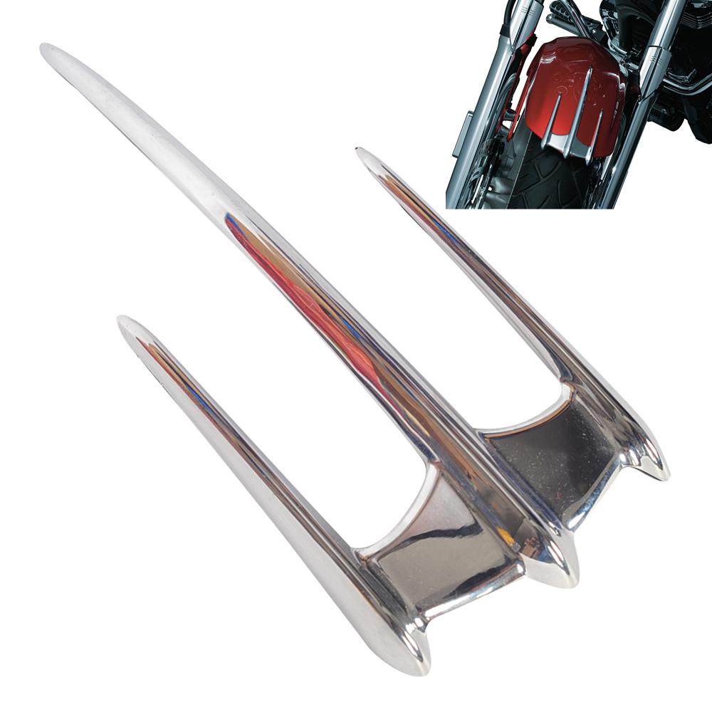 Chrome Motorcycle Fairing Triceptor Fender Accent Trim Case for Honda GL1800 VTX1800 2002-2008 Yamaha V-Star chrome triceptor fender accent for honda