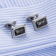 VAGULA Hot Sale Cuffs High Quality Cufflinks Wholesale Classic Lawyer Groom Wedding Cuff links 10197