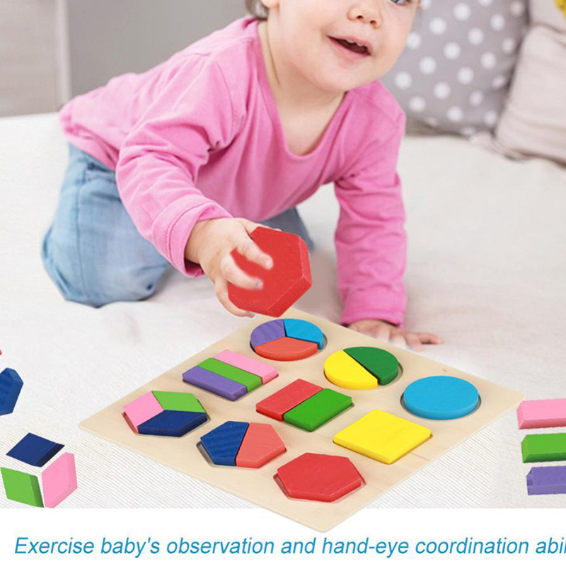 Baby Toys Developmental Baby Toys Educational Puzzle Sets Wooden Geometry Wood Toys For Baby Kids Early Learning
