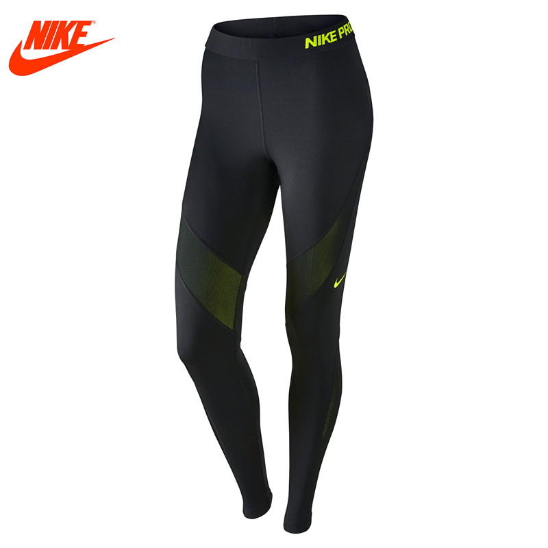 Nike authentic women tight elastic breathable training Black pants nike nike tech tight pants