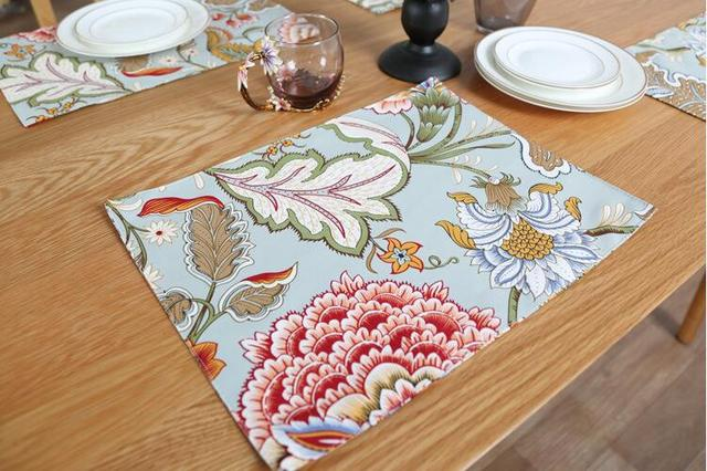 Modern Table Mat Coaster Fabric Linen Cotton Dining Placemat Pad Decorative Mats Decoration