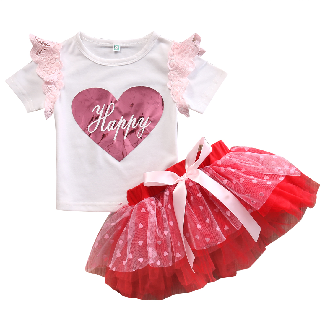 2PCS Kids Baby Girls Summer Outfits Clothes Lace Sleeve T shirt Tops Tutu Skirt 2PCS Sets Princess Clothes hp omen 17 17 w205ur [1dm95ea] black 17 3 fhd i7 7700hq 12gb 1tb 256gb ssd gtx1060 6gb w10
