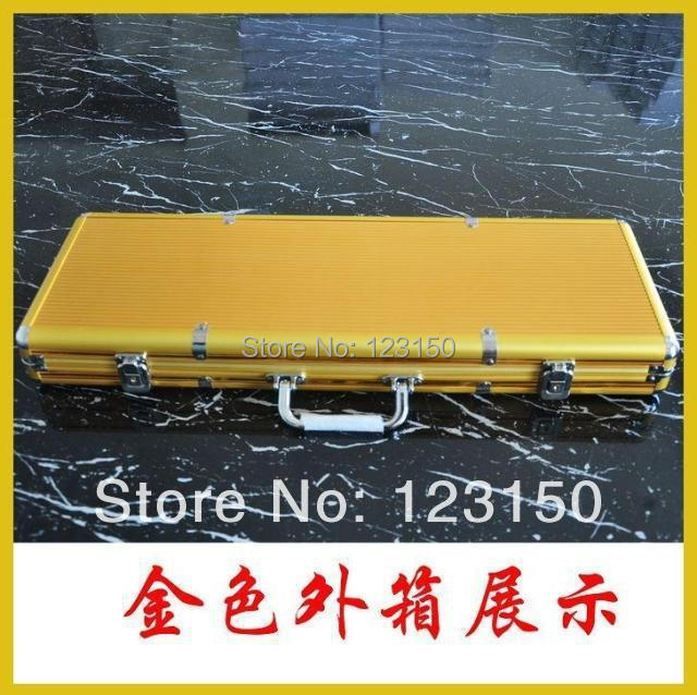 AC-006 High Quality Poker Chip Aluminum Case for holding 500pcs chips, Golden