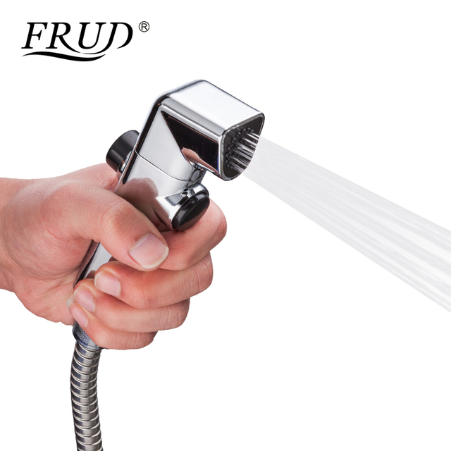 FRUD New Hand Held Bidet Sprayer with Wall Bracket Diverter Toilet Shower Head Bidet Sprayer Set for Bathroom Bidet Faucet