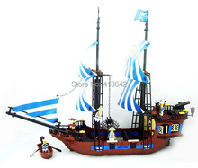 Free Shipping KAZI 87011 608PCS 2013 large educational plastic building blocks sets enlighten brick children toys Pirates King