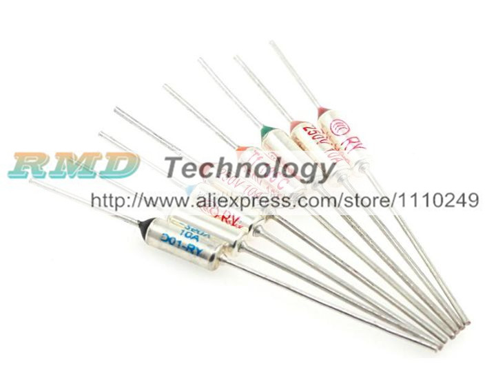 10pcs/lot RY121 TF 121 Degree Celsius 121C 250V 10A Circuit Cut Off Temperature Thermal Fuse Free shipping free shipping 10pcs lot si4840dy si4840 si4840d 4840dy 4840 mosfet n ch 40v 10a 8 soic best quality