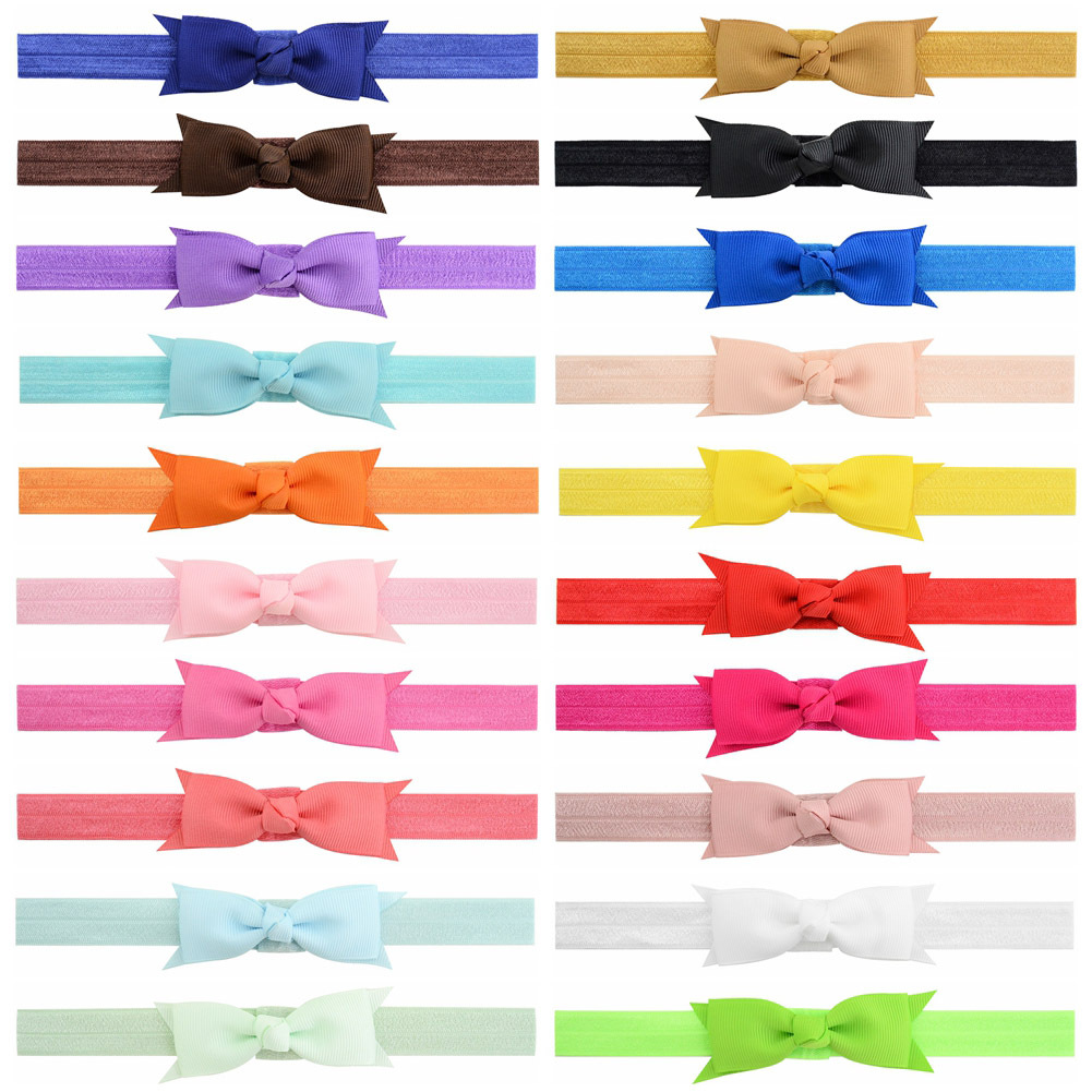 1pc 3 Inch Girls Bow tie Hairband Kids Elastic Bow hairband DIY Grosgrain Ribbon Bow For Hair accessories Top Hairbows For bebes 10pcs lot high quality hair band with grosgrain ribbon flower for girls handmade flower hairbow hairband kids hair accessories