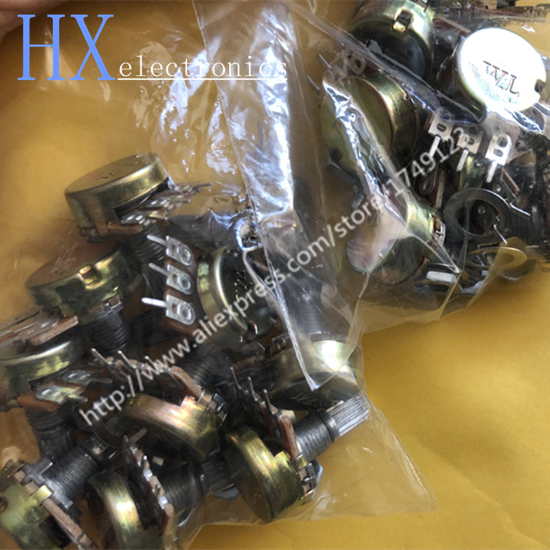 Free Shipping 10PCS Single Potentiometer WH148 B 1K 2K 5K 10K 20K 50K 100K 250K 500K 1M