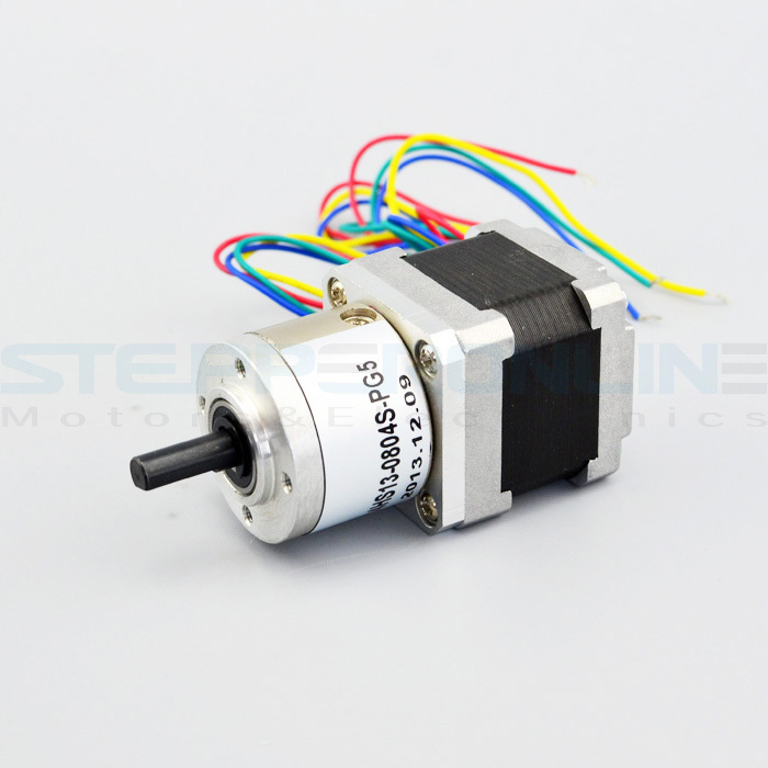 цена на Gear ratio 5:1 Planetary Gearbox stepper motor Nema 14 0.8A Geared Stepper Motor 3d printer stepper motor 14HS13-0804S-PG5