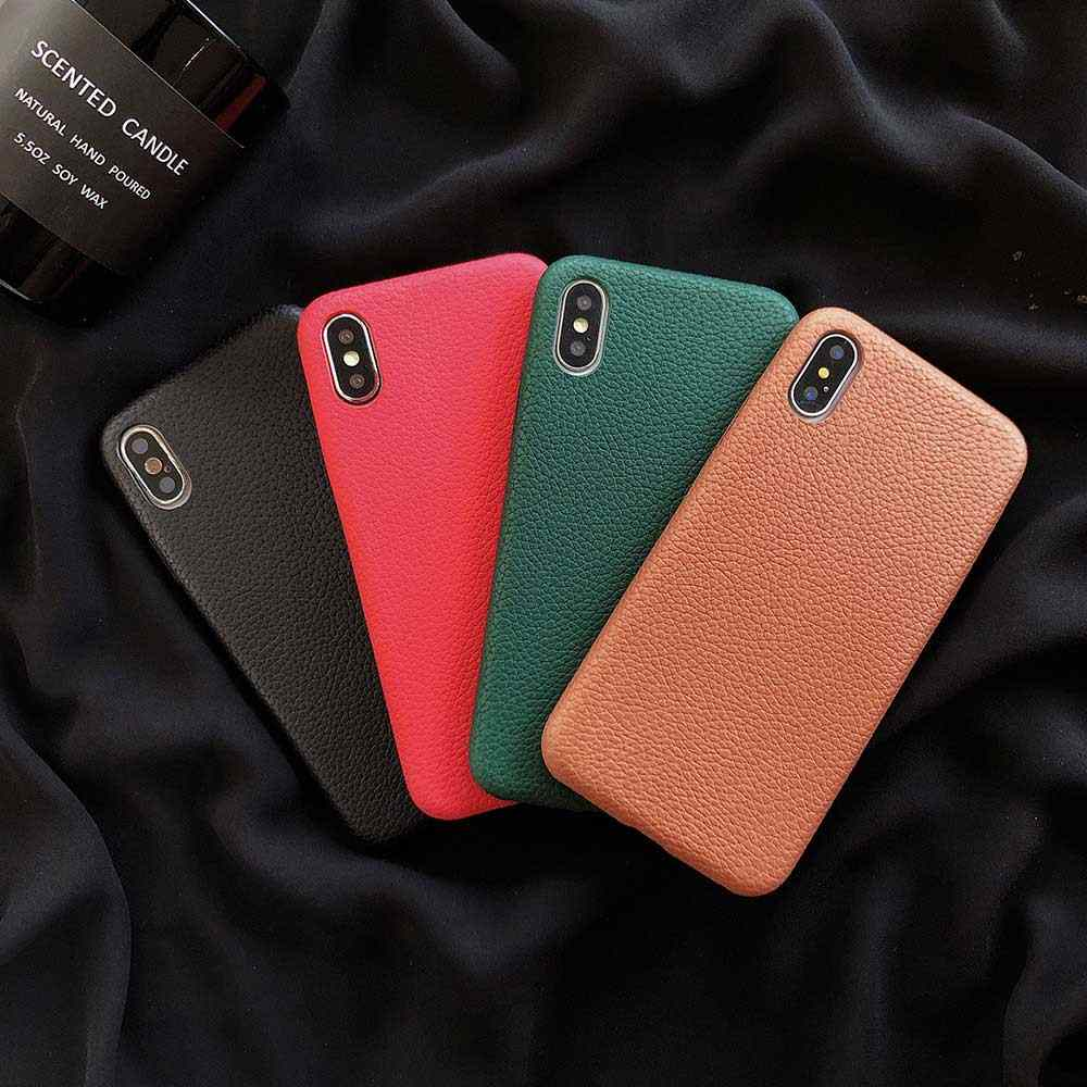 Matte PU หนังสำหรับ iPhone 11 Pro XS Max XR X Case สำหรับ iPhone 8 6 6s 7 plus Soft Cover Capa