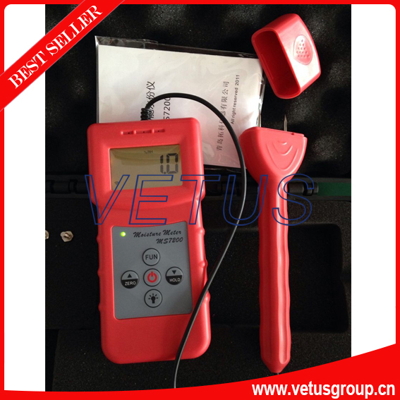 MS7200+ paper moisture meter with Data hold function mc7812 induction tobacco moisture meter cotton paper building soil fibre materials moisture meter