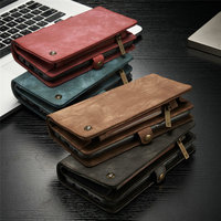 Retro Flip Leather Phone Case For Samsung Galaxy S9 Wallet S9 Plus S7 S7 edge S8 S8 Plus Note 8 9 Card Pocket Cover Phone Bags