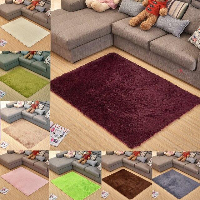 Super Soft Silky Bedroom Rug Living Room Carpet Rug Pure Color Hallway  Floor Mats Outdoor Mats