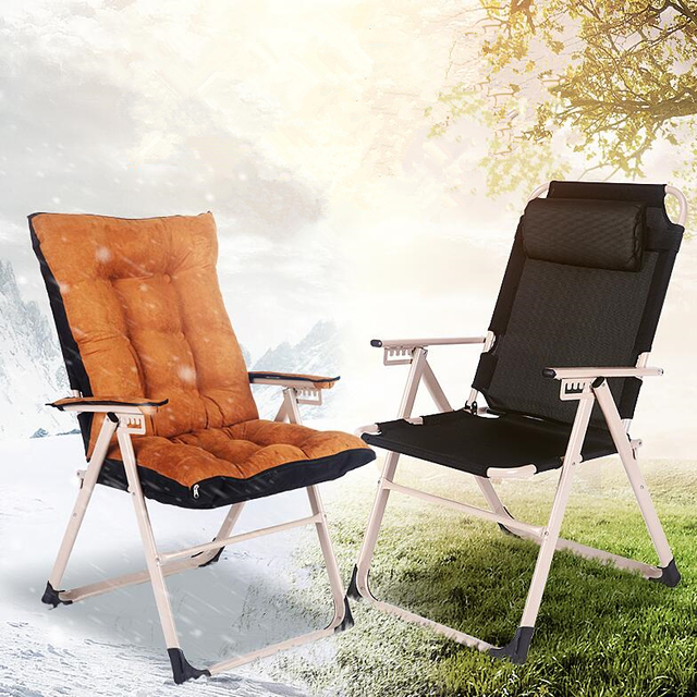 Fashion Modern Sun Chairs Leisure Beach Balcony Lying Chair Household Office Folding Super Soft Computer