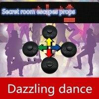9527 реальная жизнь игры реквизит для побега из комнаты Dazzle танцор готовой игры Реквизит takagism игра головоломка для побега комнаты игры