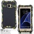 R-just marca waterproof case para samsung galaxy s7 edge case casos de telefone de metal para samsung galaxy s7 tampa saco do telefone case