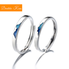 Blue Ocean Couples Resizable Ring Copper Alloy Silver Plating Lovers #8217 Resizable Rings Fashion Trendy Women Jewelry Birthday cheap Metal Engagement Classic geometric Diamond-001 Bridal Sets Prong Setting Double kim Gift