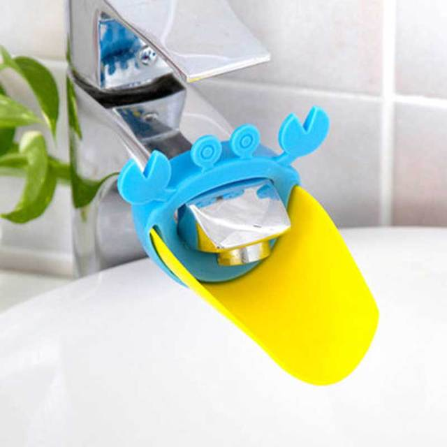 2018 New Cute Faucet Extender Toddlers Kids Babies Sink Handle Extenders for Home Bathroom Accessory Supply 5