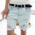 Shorts Mujeres 2016 de La Manera Del Perro Del Bordado Del Bolsillo de Las Señoras Jeans Vintage Pantalones Mujeres Agujero Denim Pantalones Cortos S/M/L/XL
