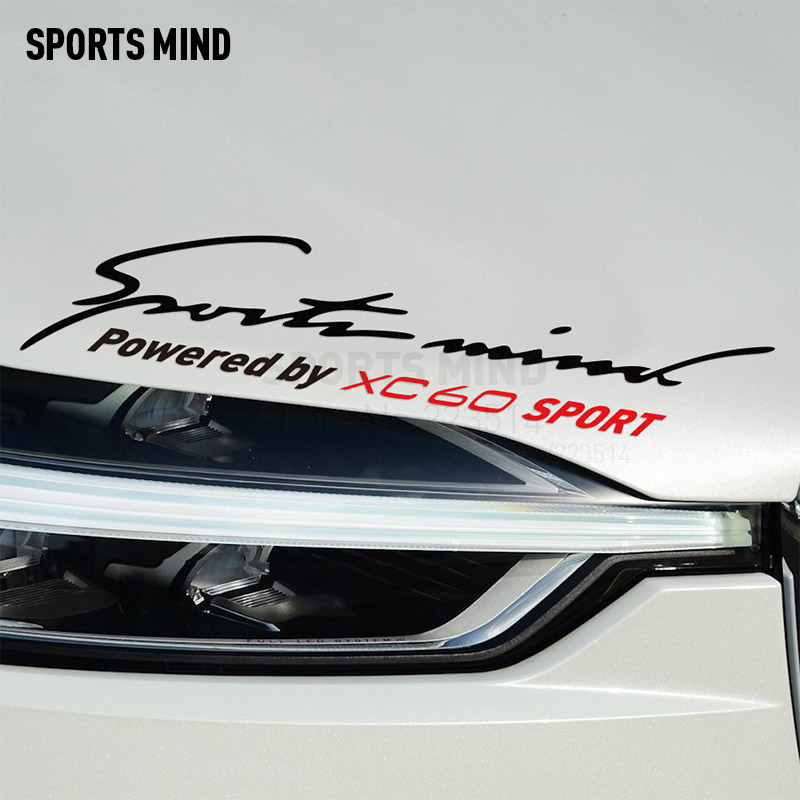 Sports Mind Reflection material Car Styling On Car Lamp Eyebrow Decals Vinyl Car Stickers For volvo xc60 accessories