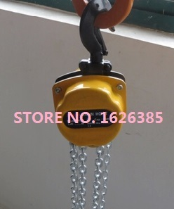 0.5TonX3M Mini type lifting chain hoist hand manual chain block crane lifting sling material handling tool industrial grade