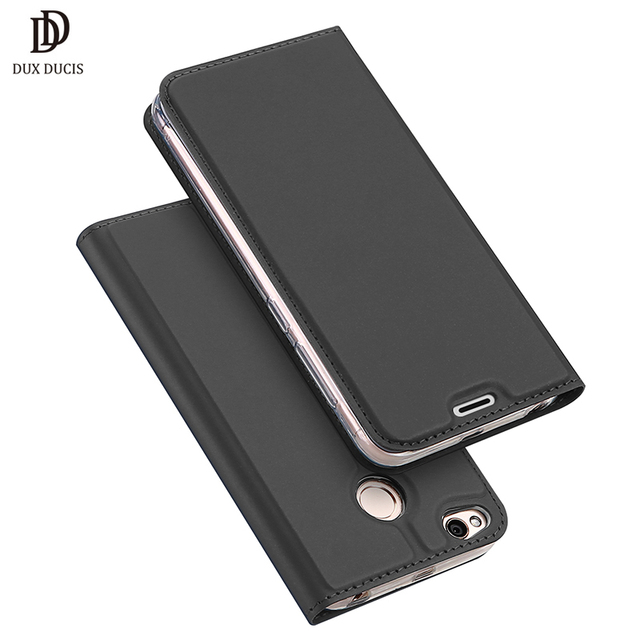 buy popular 86a53 8676f US $6.99 |Xiaomi Redmi 4X Case Leather Flip Case for Xiaomi Redmi 4X Wallet  Phone Funda DUX DUCIS Original Xiomi Redmi 4X Pro Cover 5.0