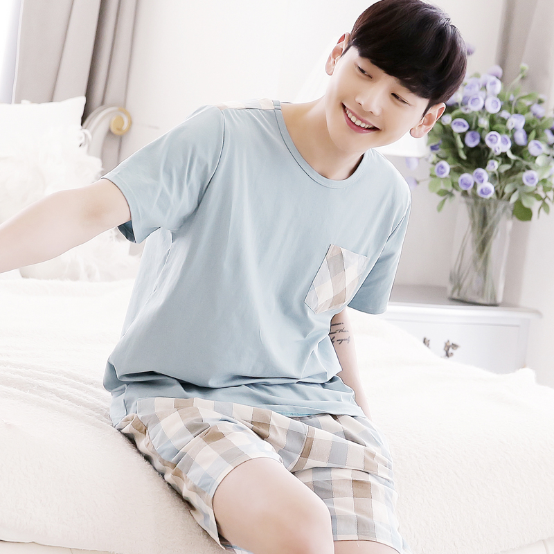 Spring And Autumn A203 Men Long Sleeves Cotton Home Cardigan Pajamas