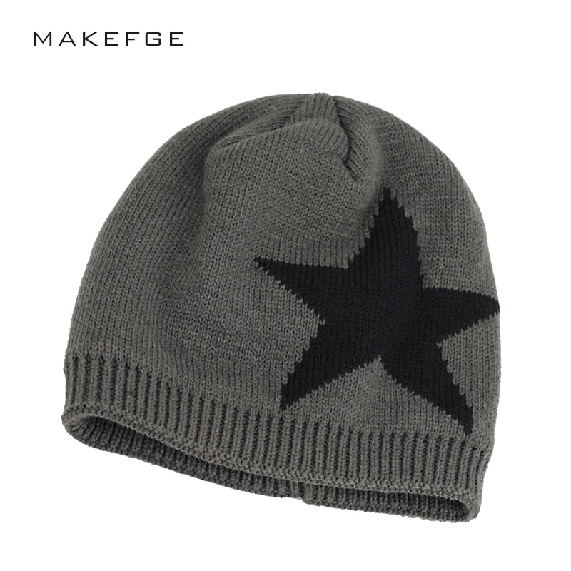2017 New Brand Winter Beanies Cap Knit Hats For Women Men Balaclava Cap Five-pointed Star knitted Hats For Men Skullies Bonnet aetrue winter knitted hat beanie men scarf skullies beanies winter hats for women men caps gorras bonnet mask brand hats 2018