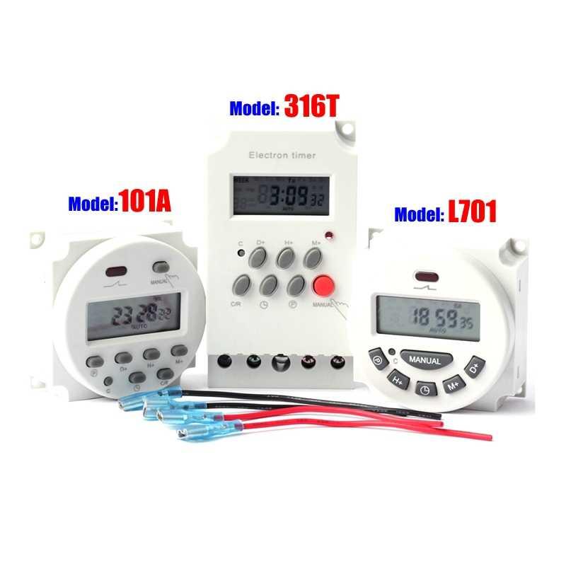 12 24 110 220 220v マイコン制御タイムスイッチデジタル液晶電子プログラマブルタイマー灌漑ポンプ時間コントローラ