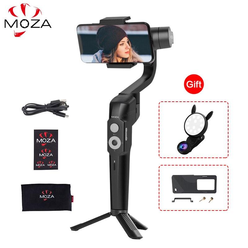 MOZA MINI-S 3 axes à main cardan stabilisateur pliable trépied éclaircissement Go Pro adaptateur de plaque pour Smartphone Gopro