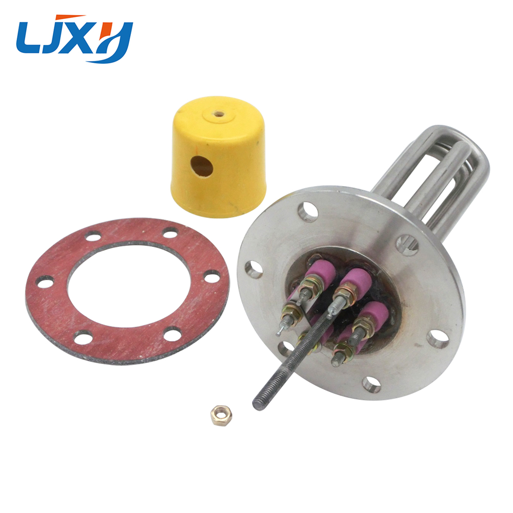 LJXH Water Heating Element 220V/380V Flange Disc Type,3KW/6KW/9KW Stainless Steel Heating Pipe for Water Tanks, Boilers цена и фото