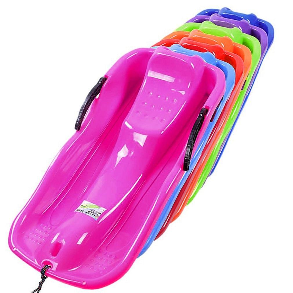 7 couleurs Sports de plein air en plastique planches de Ski Luge neige herbe sable planche Ski Pad Snowboard avec corde pour les doubles personnes - 4
