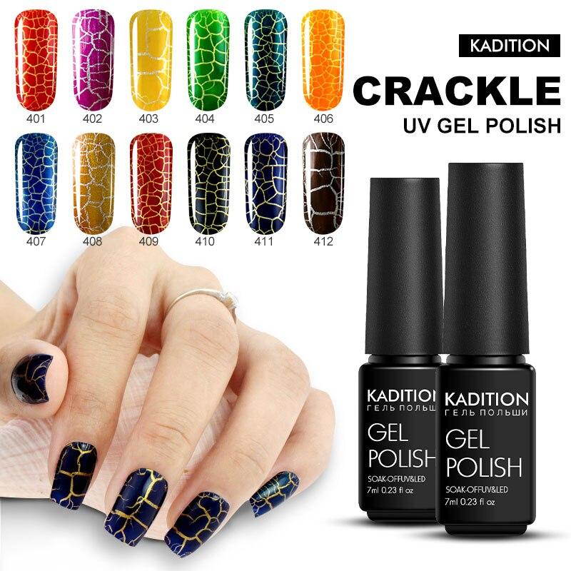 KADITION Crack Gel Nail Polish 7ml UV LED Soak Off