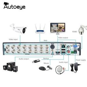 Image 3 - Autoeye 16CH 5in1 CCTV 1080N DVR NVR H.264 نظام الأمن الهجين مسجل فيديو P2P 1080P CVBS TVI CVI IP كاميرا ahd Onvif